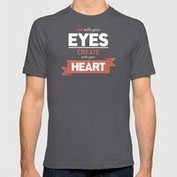 ...Create With Your Heart Mens Fitted Tee Asphalt SMALL