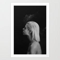 Black white Art Print