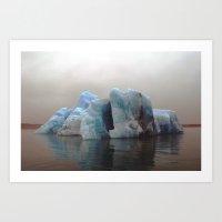 iceberg. Art Print