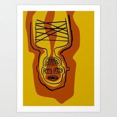 Upside-downy Man Art Print