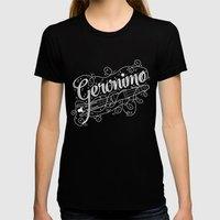 Geronimo! Womens Fitted Tee Black SMALL