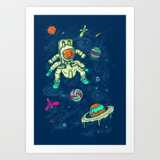 Antronaut And The Sugar Galaxy Art Print