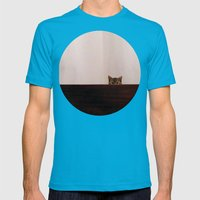 shy Mens Fitted Tee Teal SMALL