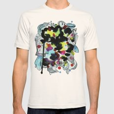 Hanging worlds  Mens Fitted Tee Natural SMALL