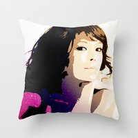 WOMAN AMONG THE STARS Throw Pillow