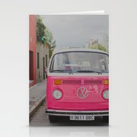 Hot Pink Lady Stationery Cards