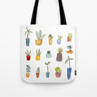 Tote Bag featuring Cactus by Sandra Ovono - Water…