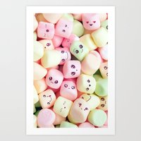 Marshmallow Smile  Art Print