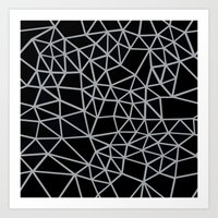 Segment Grey and Black Art Print