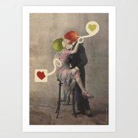 Loving Apple Art Print