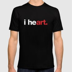 i heart (black) SMALL Mens Fitted Tee Black