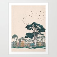 The Panhandle, San Francisco Art Print