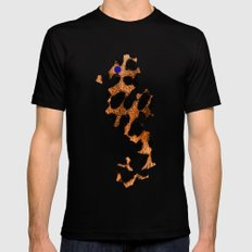 SEA LEOPARD Black SMALL Mens Fitted Tee