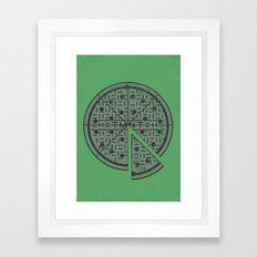 Slice of sewer life Framed Art Print