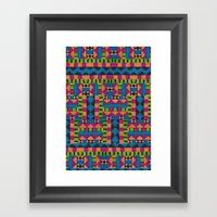 kiwi tribe Framed Art Print