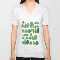 Watercolour Topiary Unisex V-Neck