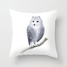 Snowy Fowl Throw Pillow