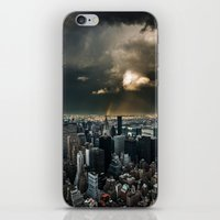 Great Skies Over Manhatt… iPhone & iPod Skin