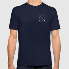 East & West Mens Fitted Tee Navy SMALL
