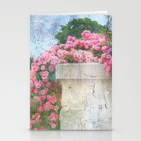 Cascade of Pink Roses Stationery Cards