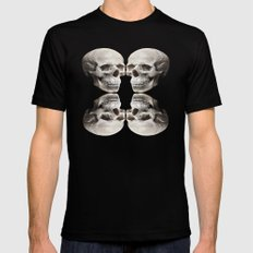 Skull Pattern SMALL Black Mens Fitted Tee