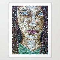 Broken Words - Scrabble … Art Print