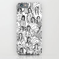 girls iPhone & iPod Cases featuring Girls by leah reena goren