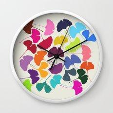 Ginkgo Multicolor Wall Clock