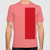 Flag of Monaco Mens Fitted Tee Pomegranate SMALL
