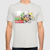 Tour De France Mens Fitted Tee Silver SMALL