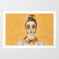 Mango Summer Art Print