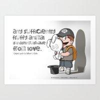 Fluffy Love Art Print