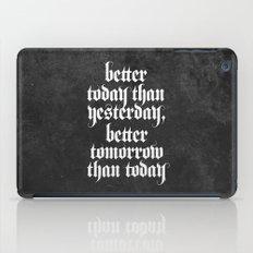 be better (b&w variant) iPad Case