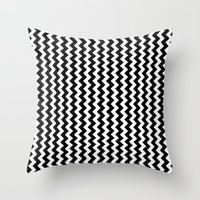 Black And White Vertical… Throw Pillow