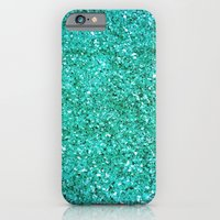 TEAL GLITTER  iPhone 6 Slim Case