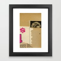 Top Dollar Framed Art Print