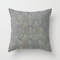 Subtle Shades Of Green Throw Pillow