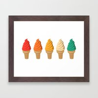 SUMMER CREAM Framed Art Print