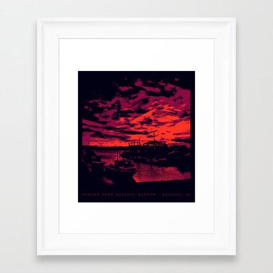 Sunset Over Bristol Harbor 2 Framed Art Print