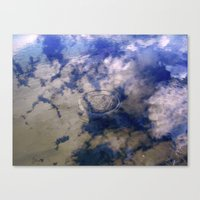 Puddles Can Reflect Too Canvas Print
