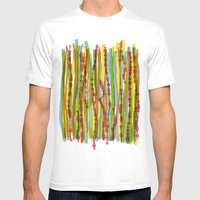 patterns - spaghettis 1 Mens Fitted Tee White SMALL