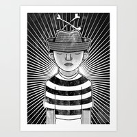 Fisher Man B/W Art Print