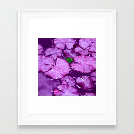 green frog II Framed Art Print
