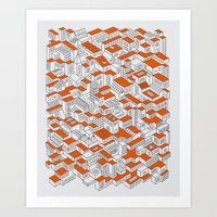City Grid Day Print Art Print