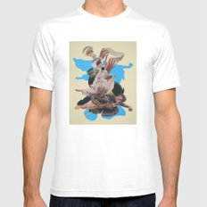 Oceans Wide SMALL White Mens Fitted Tee