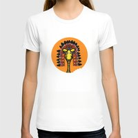 indian giraffe Womens Fitted Tee White SMALL