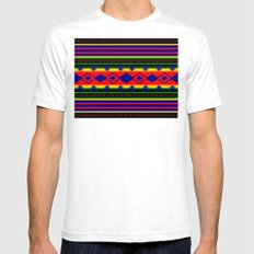 Aztec Summer Mens Fitted Tee White SMALL