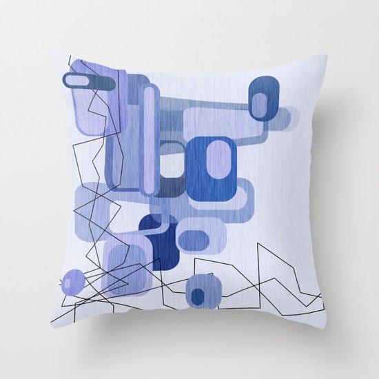 Feeling Blue. Throw Pillow