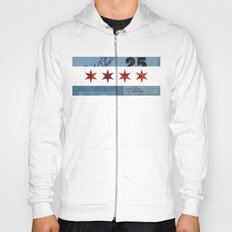 Ephemeral Chicago Flag Hoody