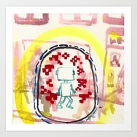 Angry aura-migraine Art Print